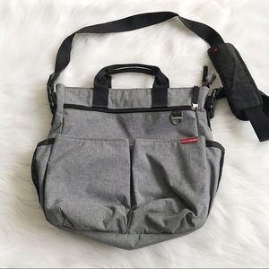 SKIP HOP Duo Unisex Gray Diaper Bag